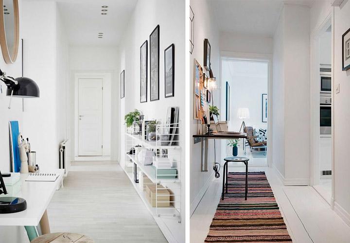 Cómo decorar un pasillo moderno