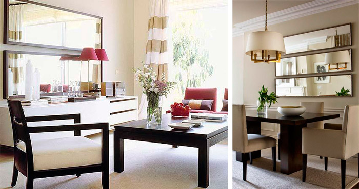 Espejos para comedor beneficios e ideas bonitas decorar for Decoracion de salas con espejos en la pared