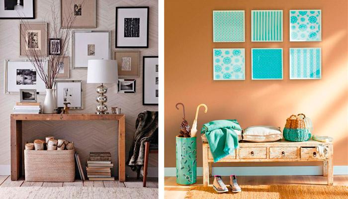 decoracin de recibidores con cuadros y marcos fotogrficos