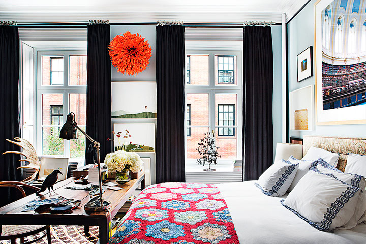 Decoración de dormitorios bohemios textiles