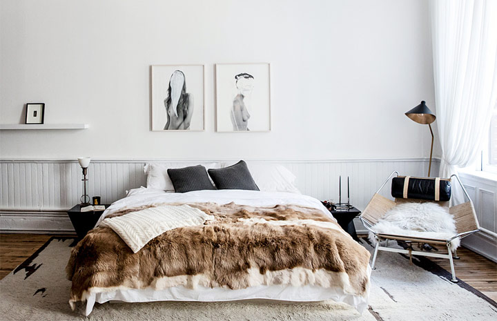 Dormitorios estilo bohemio nórdico