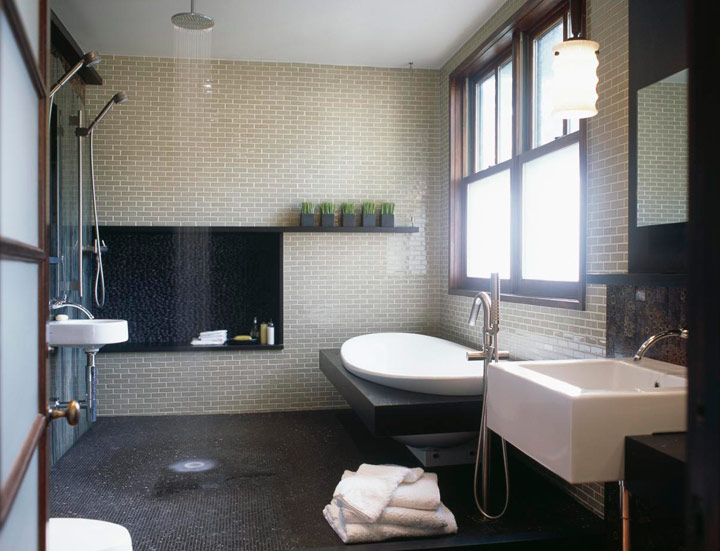 duchas romanas abiertas modernas
