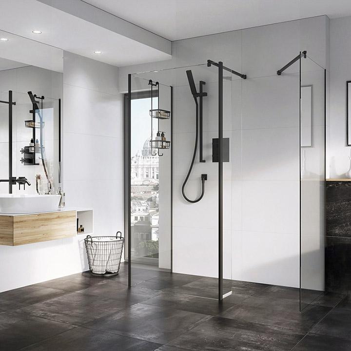 Duchas Romanas abiertas para baños