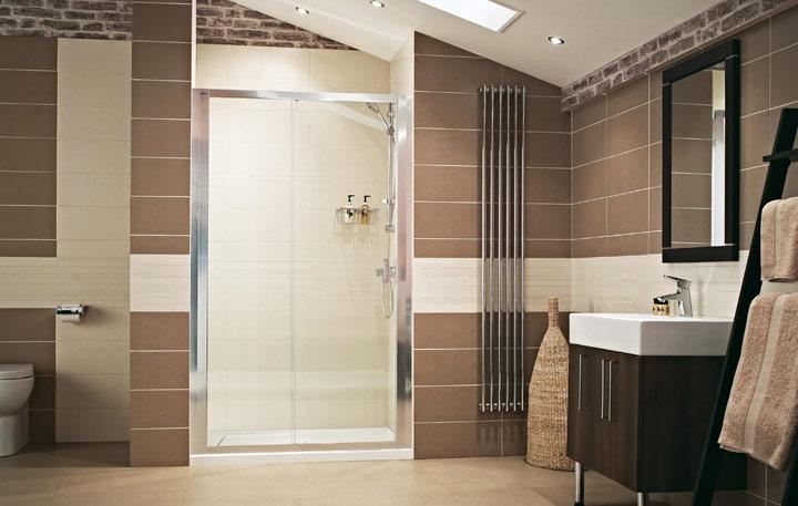 Duchas romanas integradas decoración del baño