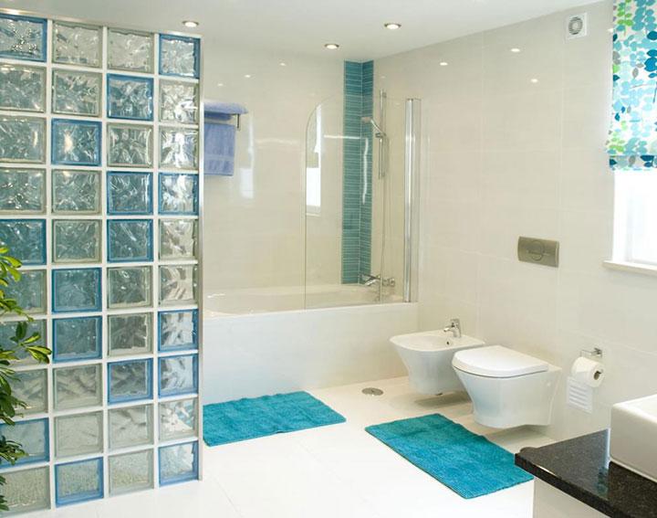 Toallas y alfombras de baño color turquesa