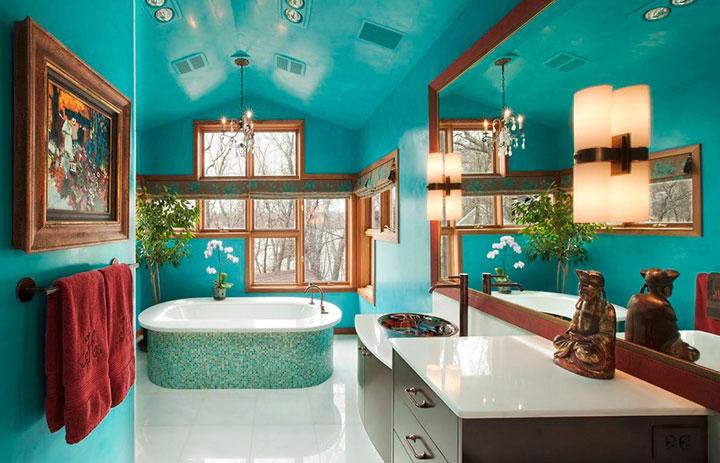 Ba os color turquesa ideas atemporales con estilo - Como se hace el color turquesa ...