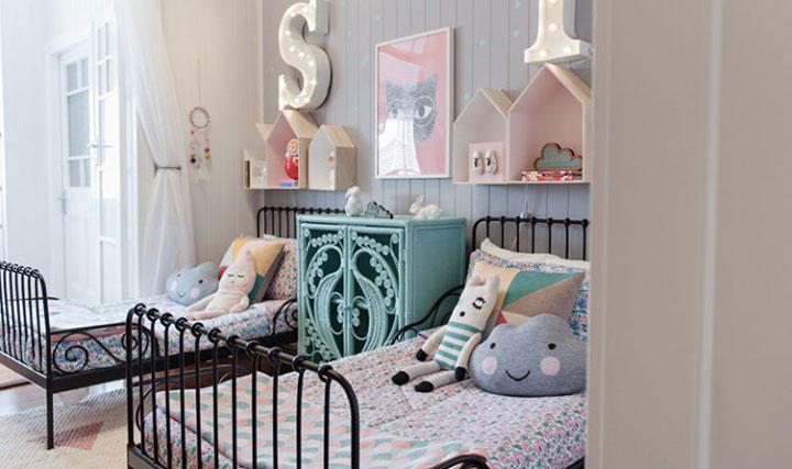 Colores pastel en dormitorios de niños