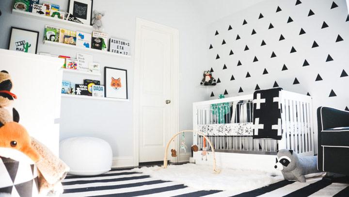 Dormitorios monocromáticos para bebés