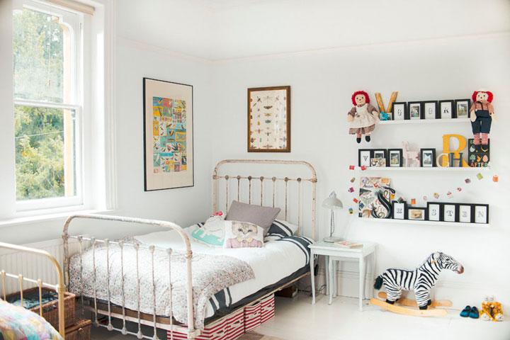 Dormitorios de niños vintage con camas retro