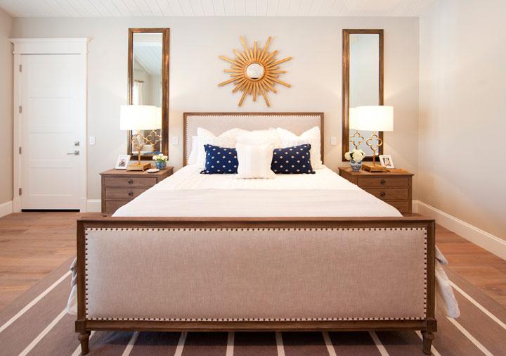 Espejo brillante rayos de sol para el dormitorio