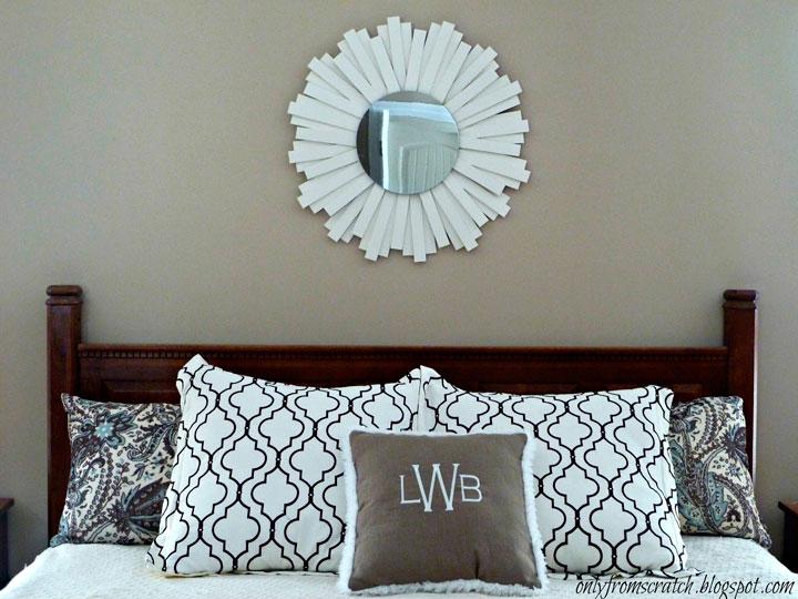 Espejo de sol de madera color blanco