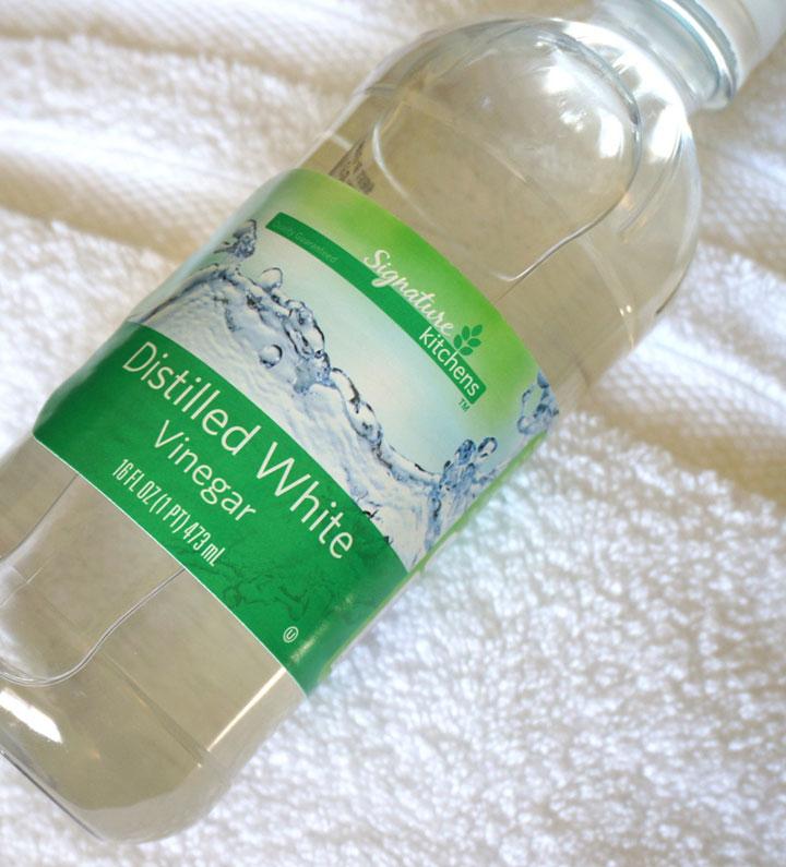 vinagre blanco destilado para limpiar toallas