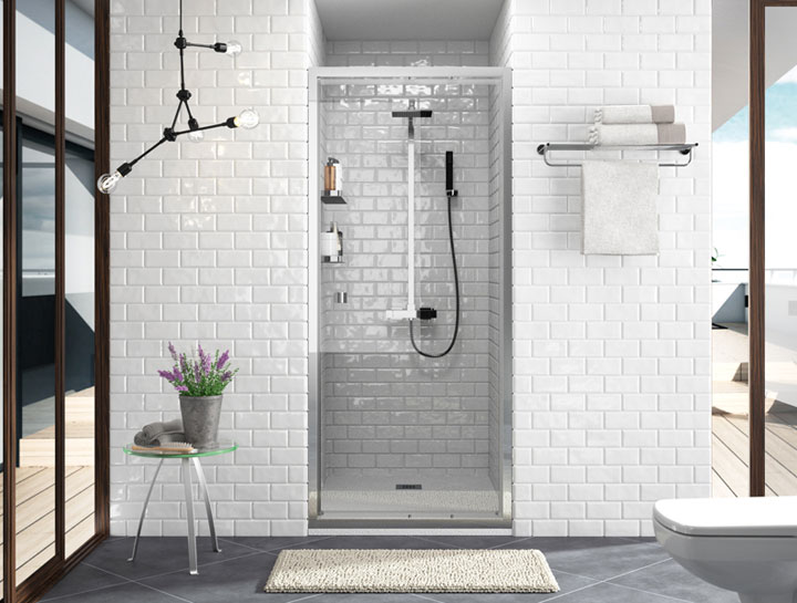 Azulejos blancos para baños pequeños