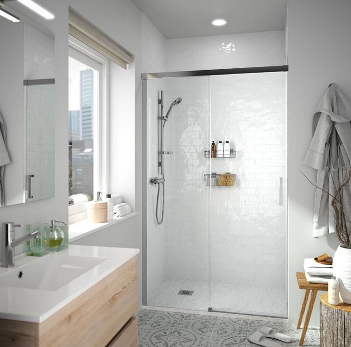Iluminar bien los baños pequeños