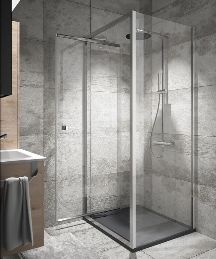 Mamparas pivotantes para baños pequeños