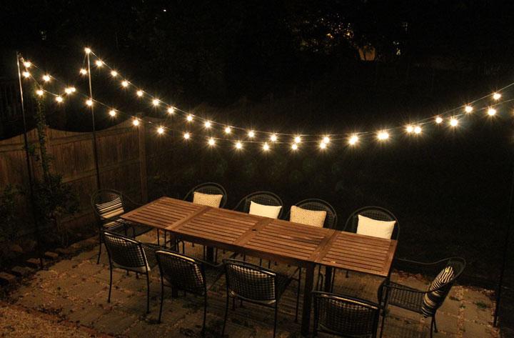 Tiras de bombillas para exteriores