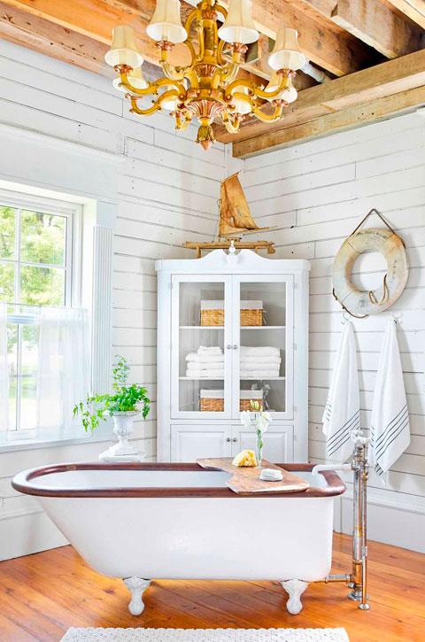 Baño rústico estilo marinero