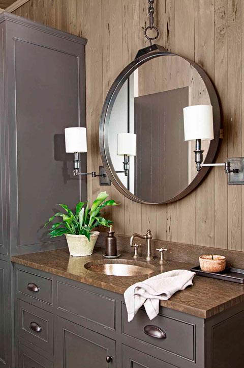 Baños rústicos de diseño elegante
