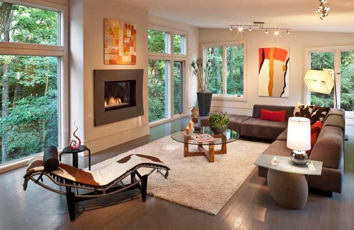 Como decorar el salón con alfombras