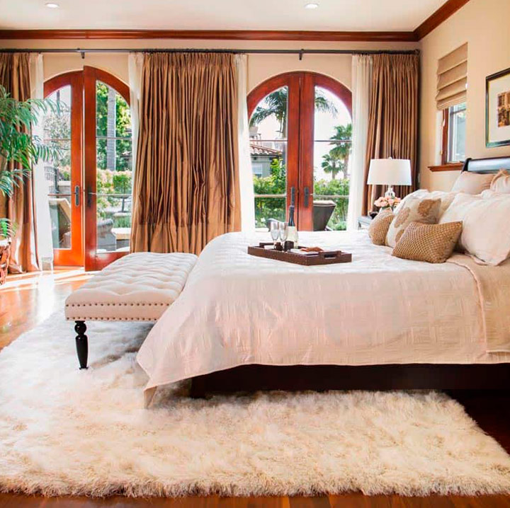 Decorar alfombras para el dormitorio