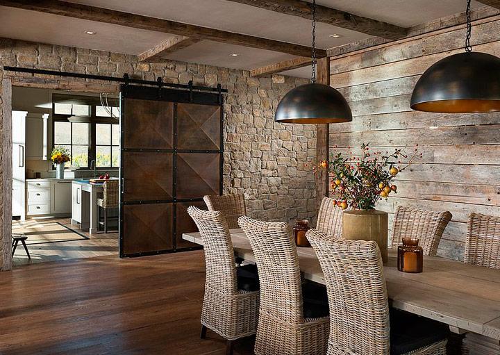 Puertas correderas industriales madera y metal