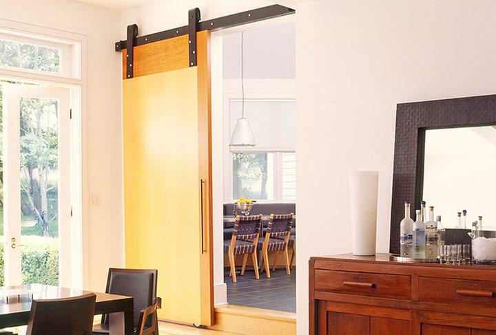 Puertas correderas para salones modernos