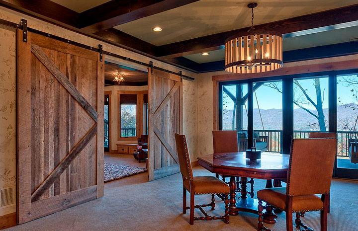 Puertas correrizas rústicas de madera