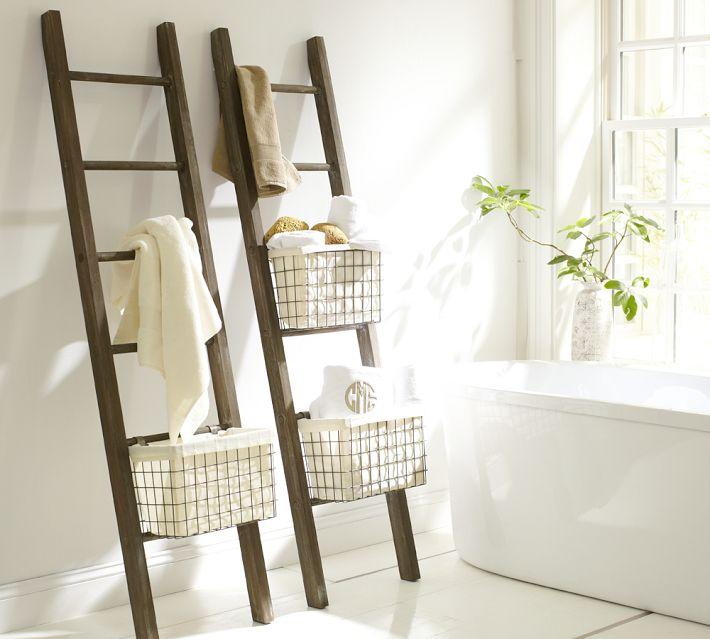 10 toalleros diy originales para un ba o de bajo presupuesto - Cestini bagno ikea ...