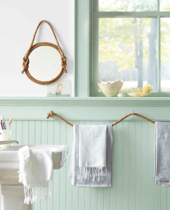 10 toalleros diy originales para un ba o de bajo presupuesto for Toalleros bano baratos