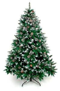 Árbol de Navidad artificial decorado nieve piñas comprar