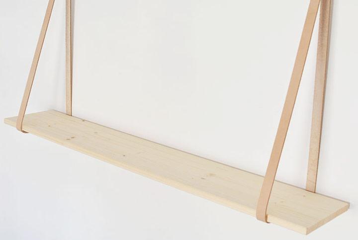 DIY estante colgante para la pared del salón