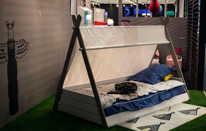 Tipi indio cama para niños