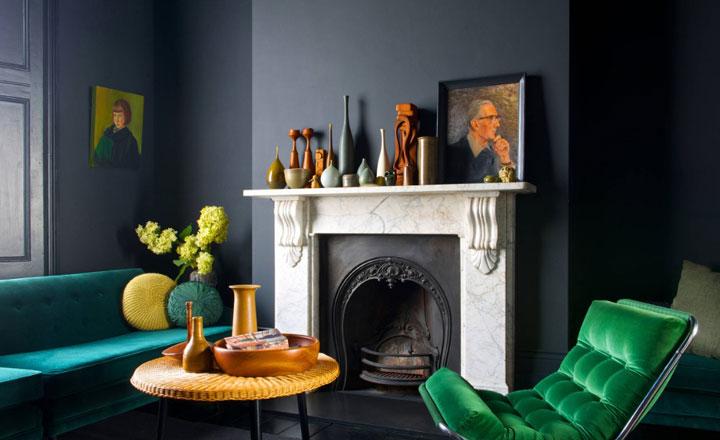 Colores saturados análogos en interiorismo