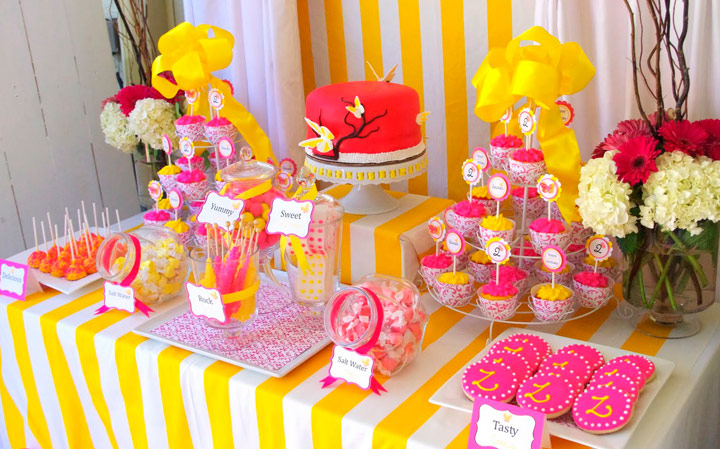 Dulces decoración para fiestas de cumpleaños