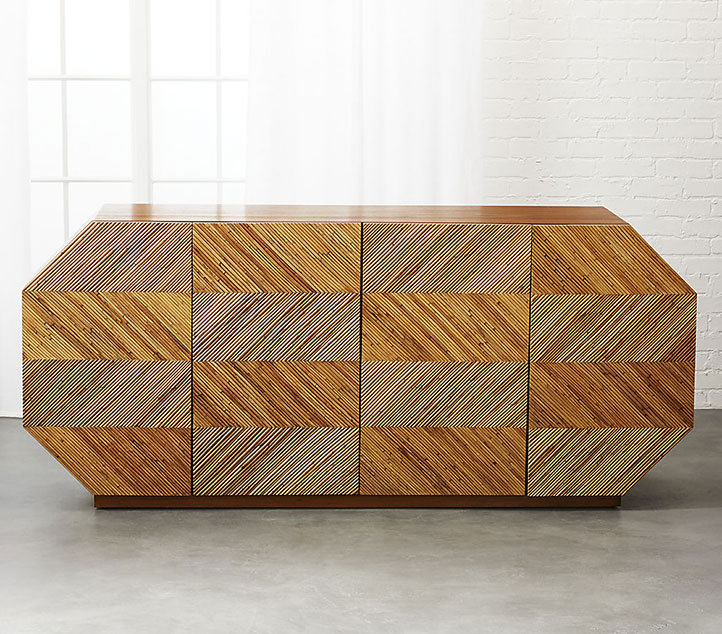 Muebles de ratán con patrones como tendencia