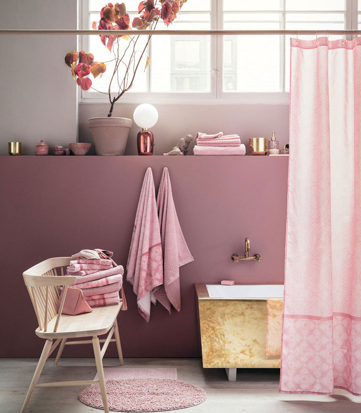 Rosa tendencia decoración en 2018