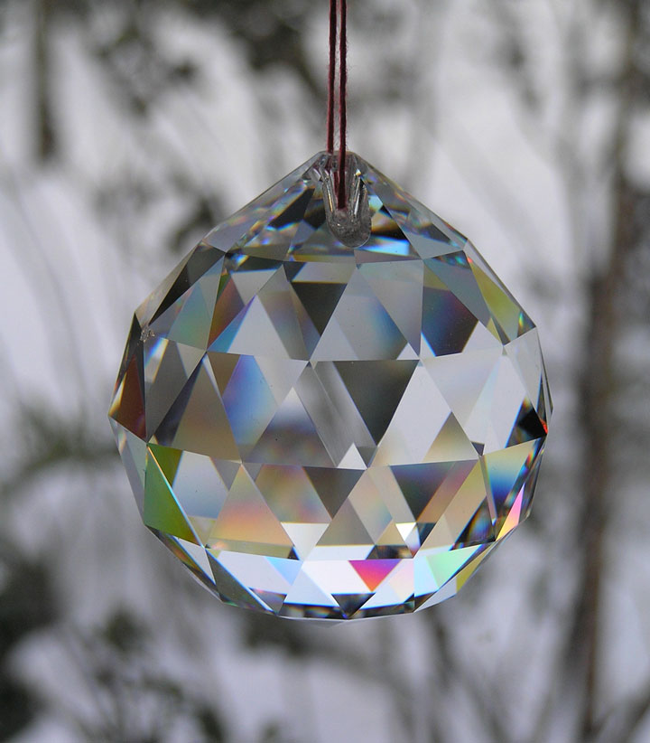 Faceted glass Feng Shui ball