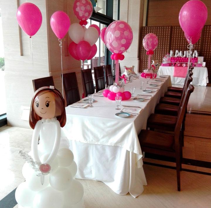 Ideas de decoración con globos para la comunión