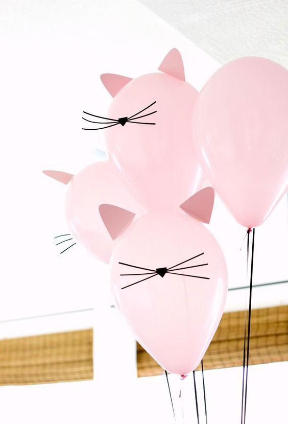Decoración con globos cumpleaños infantiles