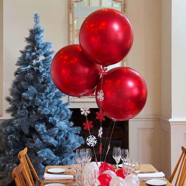 Decoración con globos en Navidad