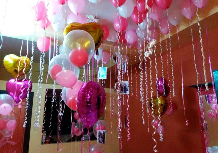 Globos de corazones para decorar celebraciones