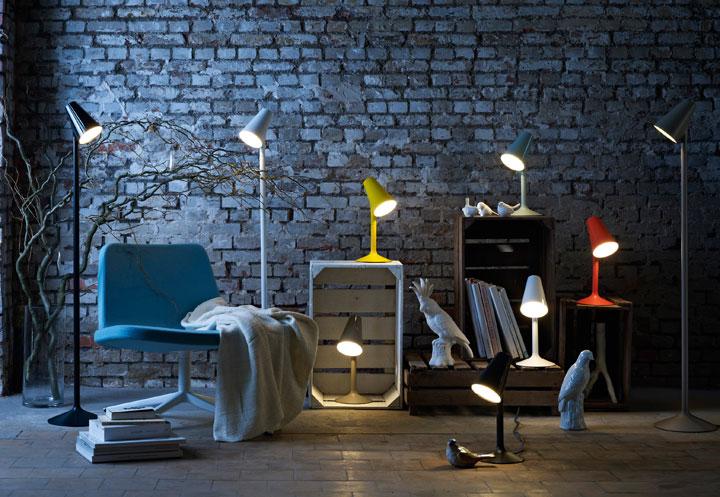 Lámparas de mesa de colores vivos