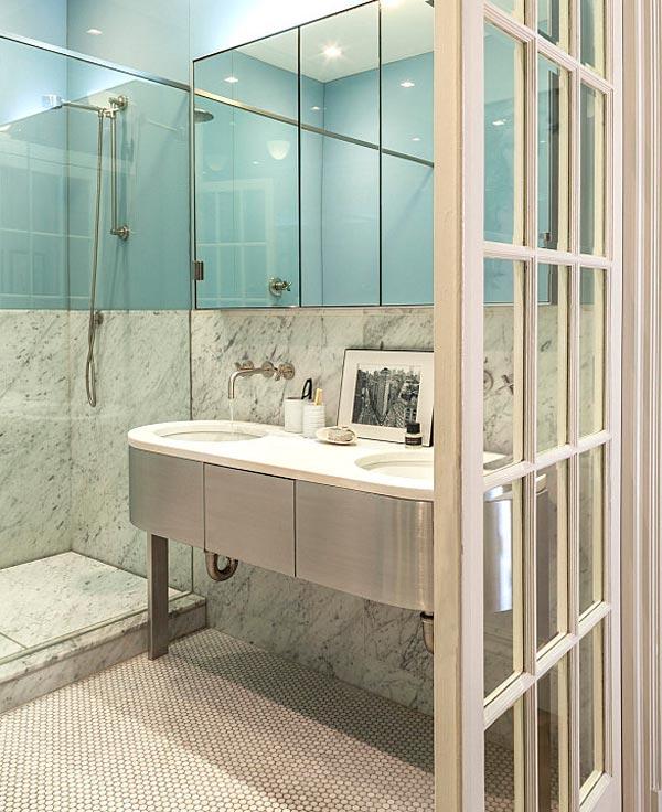 Cuarto de baño pequeño con ducha vintage