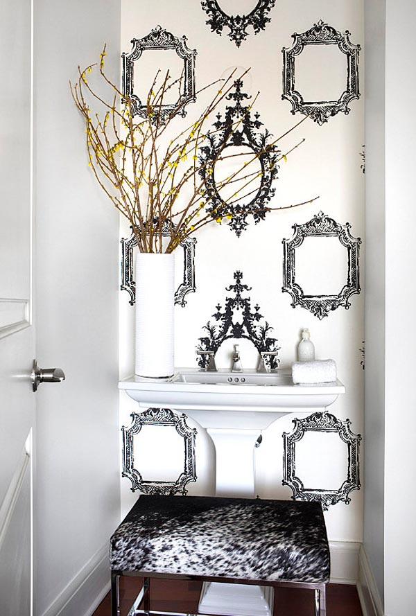 Baños pequeños con plato de ducha estilo vintage