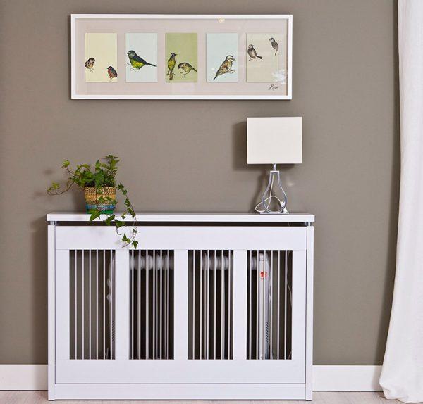 Cubre radiadores de madera blancos