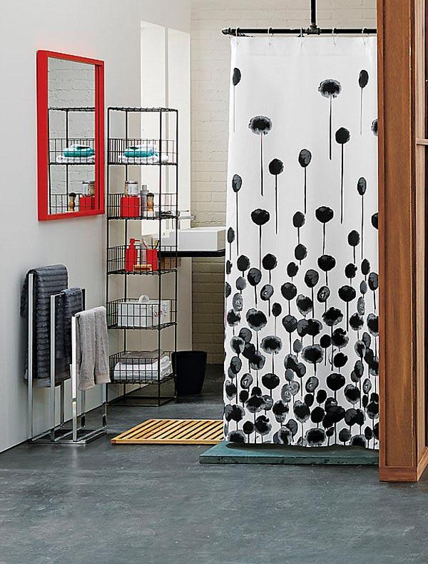 Estanterías de metal para cuartos de baño pequeños