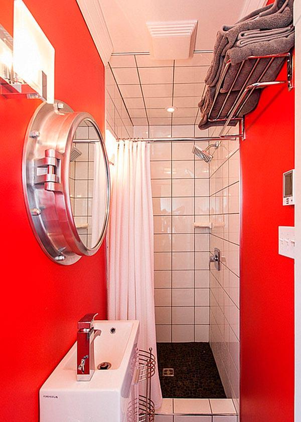 Platos de ducha en baños pequeños originales