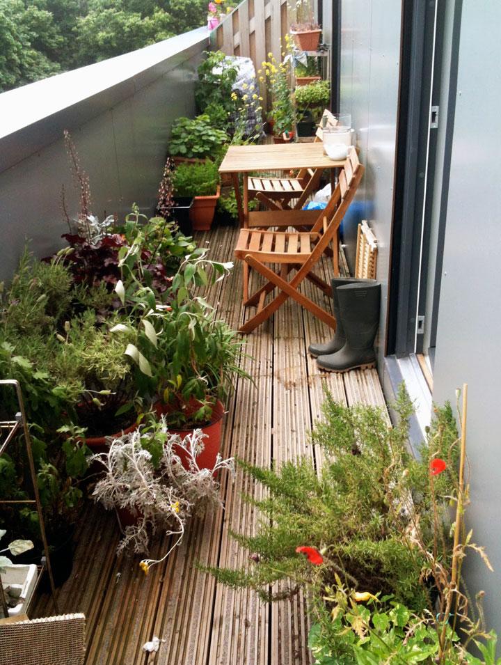Jardines en balcones pequeños decoración