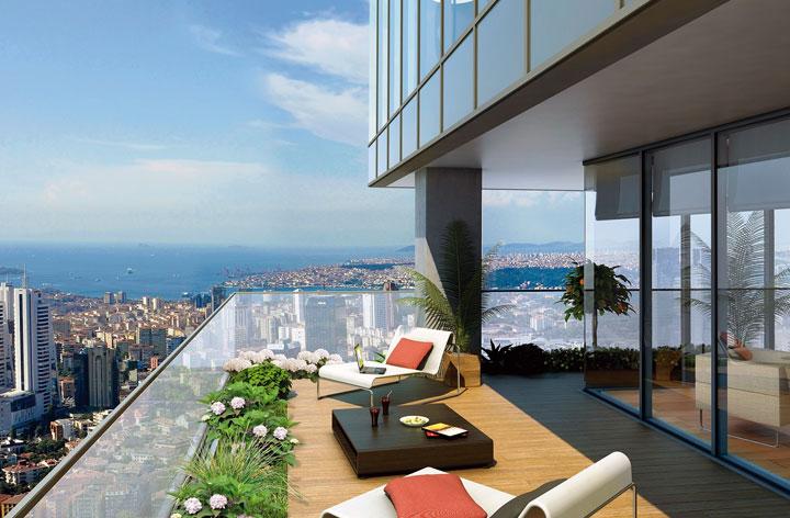 Jardines modernos en balcones de áticos