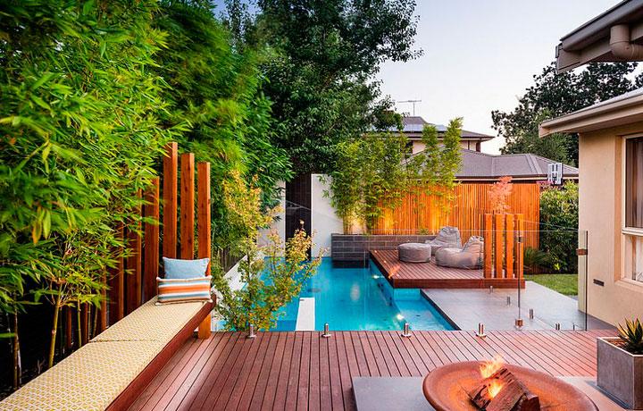 Piscinas pequeñas modernos para el patio trasero